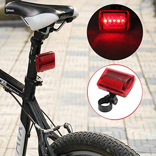 5 LED bike tail light bicycle red flash light rear lamp 7 mode