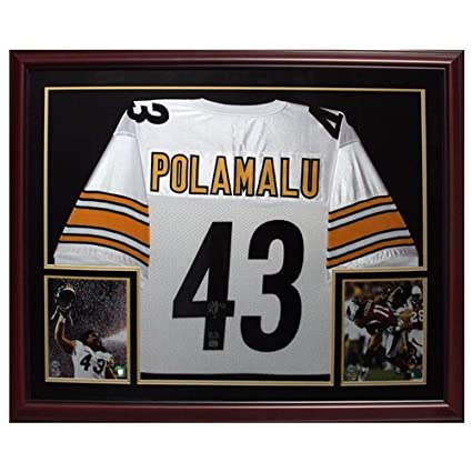 huge discount e52bf 0de32 Troy Polamalu Autographed Pittsburgh Steelers (White #43 ...