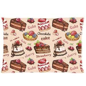 Custom y funda de almohada de varios tipos de tortas de la funda de almohada con cremallera al estándar de tamaño de 20 x 26