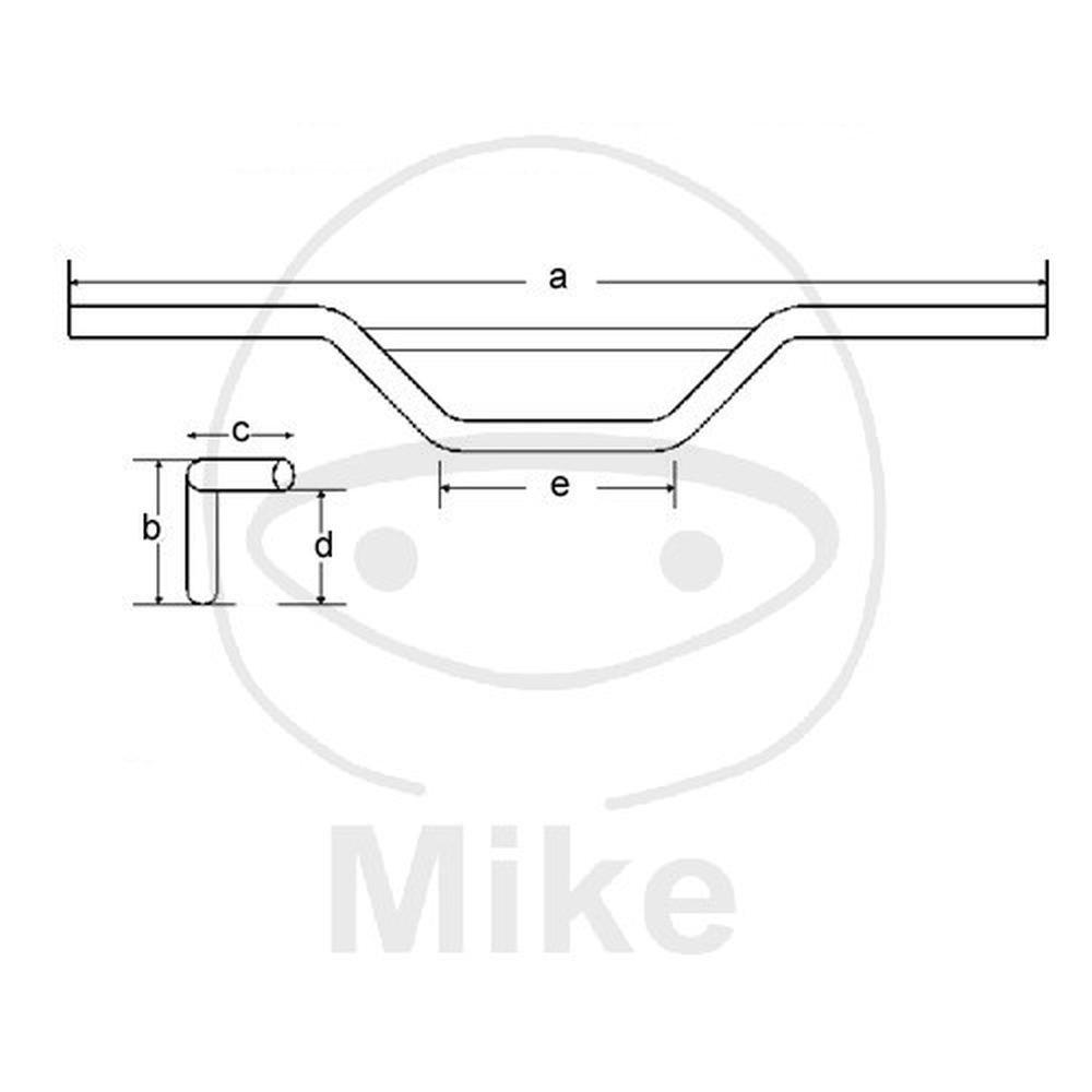 mittelhoch silber TRW Lucas MCL154C 22 mm Aluminium Lenker Moto Cross
