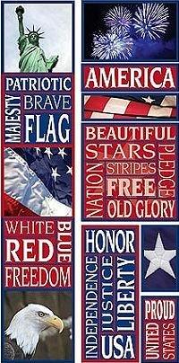 America Photo Banner Cardstock Scrapbook Stickers (Cloud 9 Design Photo Banner)