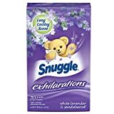 Snuggle Exhilarations Fabric Softener Dryer Sheets, White Lavender and Sandalwood, 70 Count