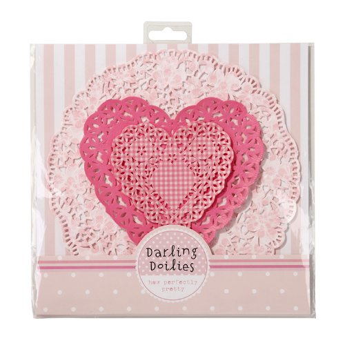 Doiles Paper Lace Crochet Look Doily Set of 60 Three Assorted Styles Hearts and Florals