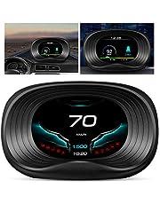 Wosune HUD de carro, projetor de cabeça para cima, projetor OBD de exibição, projetor HUD de excesso de velocidade para carro