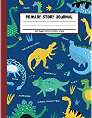 Primary Story Journal - Dinosaurs Rock: Grades K-2 Draw and Write Composition Book with Dotted Midline and Picture Space for Early Childhood, Kindergarten and Preschool