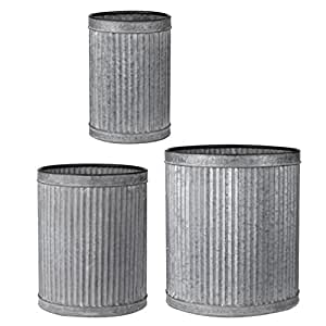 A&B Home D42208 Clemson Vertical Ridge Metal Pots, Set of 3