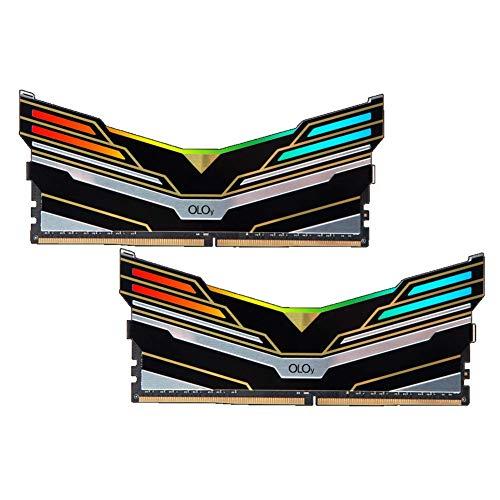 OLOy DDR4 RAM 16GB (2x8GB) Warhawk Rainbow Light RGB (Non-SYNC) 2666 MHz CL19 1.2V 288-Pin Desktop Gaming UDIMM (MD4U0826190BKKDA)