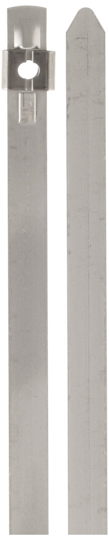 BAND-IT AS2129 Tie-Lok 304 Stainless Steel Cable Tie, 1/4'' Width, 16.5'' Length, 4'' Maximum Diameter, 100 per Bag by Band-It