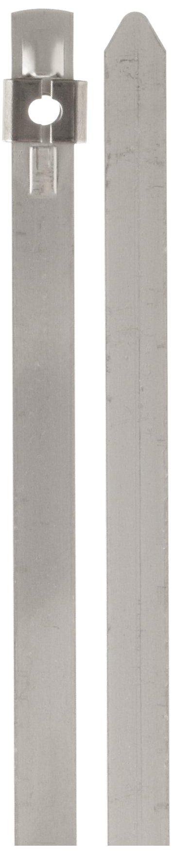 BAND-IT AS2139 Tie-Lok 304 Stainless Steel Cable Tie, 1/4'' Width, 22.5'' Length, 6'' Maximum Diameter, 100 per Bag