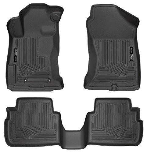 Husky Liners 99661 Black Fits 2017-18 Subaru Impreza, 2018 Subaru Crosstek Weatherbeater Front & 2nd Seat Floor Liners, 3 Pack