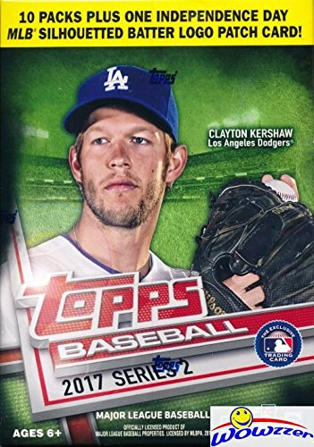 2017 Topps Series 2 Baseball EXCLUSIVE Factory Sealed Retail Box with 100 Cards & Special MLB SILHOUETTED BATTER LOGO PATCH Card! Loaded with Rookies & Inserts! Look for Autographs & Relics! WOWZZER!