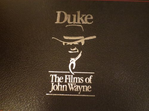 DUKE ... The Films of John Wayne ... She Wore a Yellow Ribbon, Flying Leathernecks, Fort Apache ... 3 Factory Sealed VHS Tapes in Leather Case with Three 8