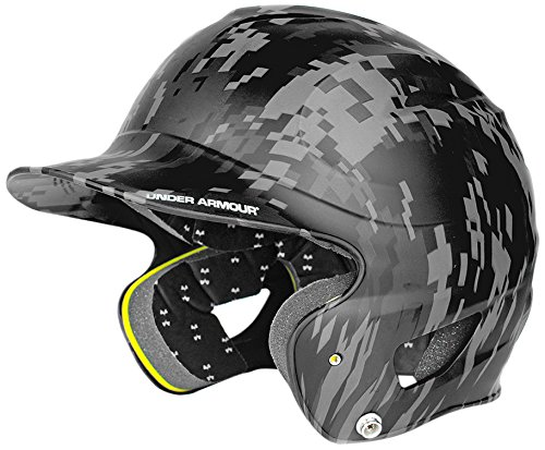 Under Armour Army (Under Armour Baseball UABH-110MC Youth Military Camo Batters Helmet- Black)