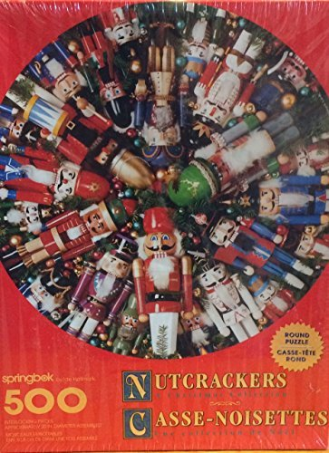 Nutcrackers [A Christmas Collection] 500 Pc Round Puzzle