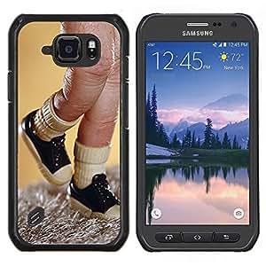 Caucho caso de Shell duro de la cubierta de accesorios de protección BY RAYDREAMMM - Samsung Galaxy S6Active Active G890A - Dedo juguete Títeres Sneakers Imagen