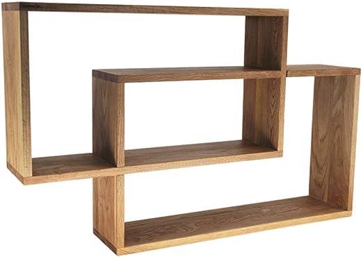 Escalera nórdica de Madera Maciza Estantería Estantería de Pared de Roble Armario de Almacenamiento Divisor de gabinete de Pared (Color : Wood, tamaño : 78 * 48.2cm): Amazon.es: Hogar