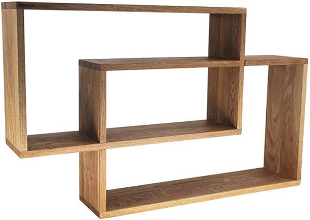 MJB Escalera nórdica de Madera Maciza Estantería Estantería de Pared de Roble Armario de Almacenamiento Divisor de gabinete de Pared (Color : Wood, tamaño : 78 * 48.2cm): Amazon.es: Hogar