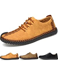 Men's Handmade Suede Leather Oxford Shoes British Style Flats Lace-up Loafers Casual Sneakers