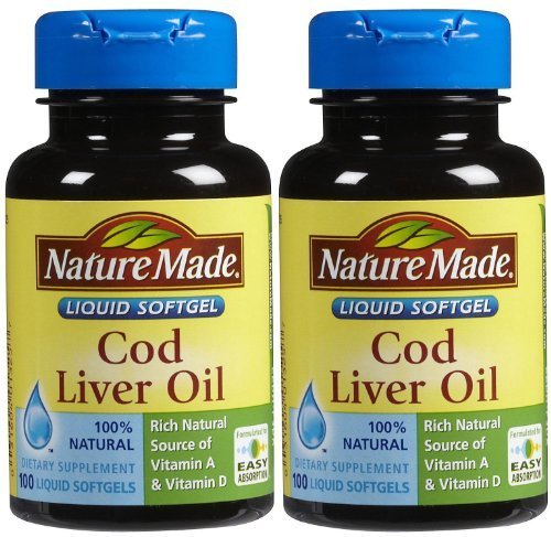 Nature Made Cod Liver Oil, Liquid Softgels, 100 ct.