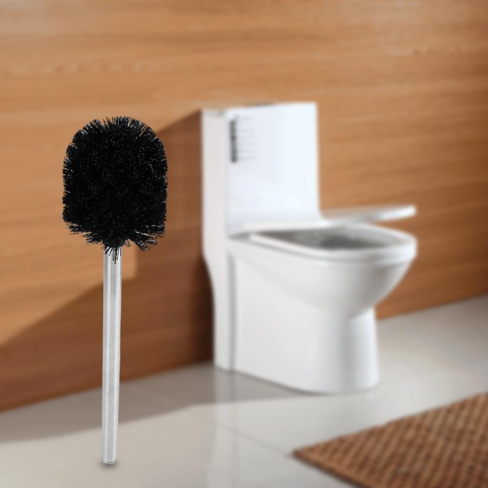 GLOGLOW Spazzola per la pulizia della toilette WC Sistema per la pulizia della vasca da bagno Strumento per la pulizia della lama in plastica nera
