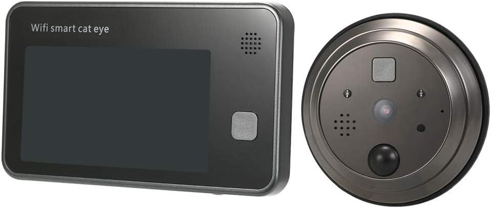 OWSOO 4.3 Videoportero WiFi con LCD Digital Soporta Control Remoto de App Vision Nocturna Detecci/ón de Movimiento PIR
