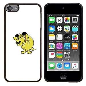 TECHCASE---Cubierta de la caja de protección para la piel dura ** Apple iPod Touch 6 6th Touch6 ** --Carácter cómico del Arte Dibujo Historieta del perro