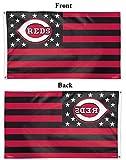 MLB Cincinnati Reds 02741115 Deluxe Flag, 3' x 5'