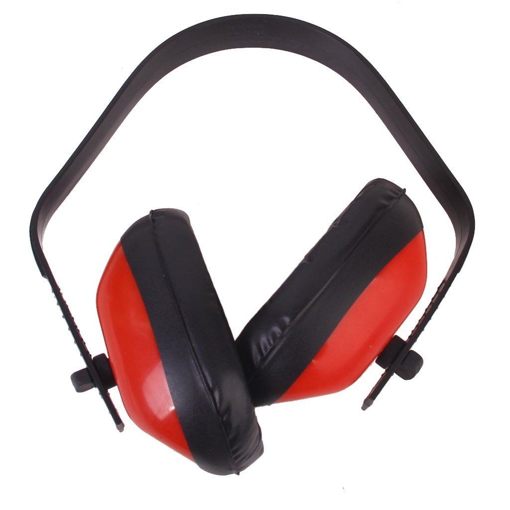 REFURBISHHOUSE Casque Anti Bruit Rouge en Mousse Reduction du bruit Protection des Oreilles