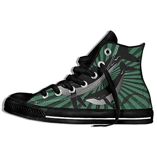 Classiche Sneakers Alte Scarpe Di Tela Anti-skid Re Delloceano Casual A Passeggio Per Uomo Donna Nero