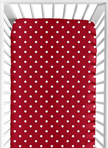 Sweet Jojo Designs Polka Dot Ladybug Fitted Crib Sheet for Baby and Toddler Bedding Sets - Polka Dot Print ()