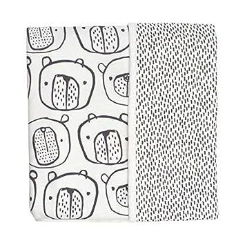 Mac /& Moon Neutral Bear Printed Receiving Blanket