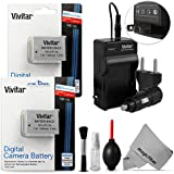 Vivitar NB-10L Battery and Charger Kit for Canon PowerShot Digital Cameras
