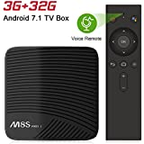 NewPal TV Box with Voice Remote M8S Pro L 3G 32GB andriod 7.1 4K tv Box Streaming Media Player (Andriod TV OS)