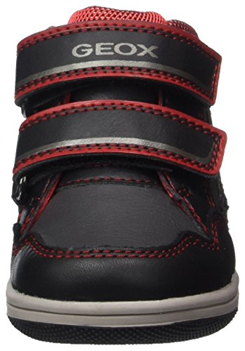 Geox B New Flick E, Zapatillas para Bebés Negro (Black/red)