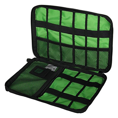 Black Cable Organizer Electronics Accessories Travel Bag USB Drive Bag Healthcare & Grooming Kit by BAIGIO (Image #2)
