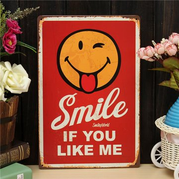 Vintage Wall Signs - Smile Wall Signs -