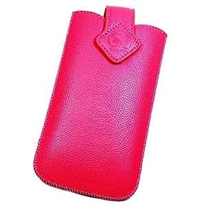 Funda–Funda de Protección façon clásica rosa XXL para HTC One S