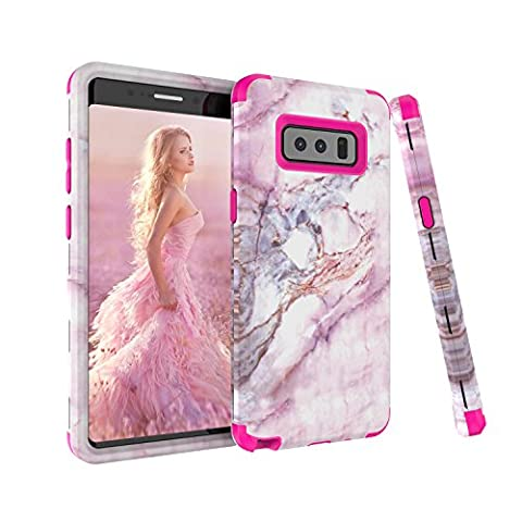 Note 8 Case, Samsung Galaxy Note 8 Case, GPROVA Dual Layer Hybrid Armor High Impact Bumper Protection Phone Cover For Galaxy Note 8 (Rose (Galaxy Speck 5s Case)
