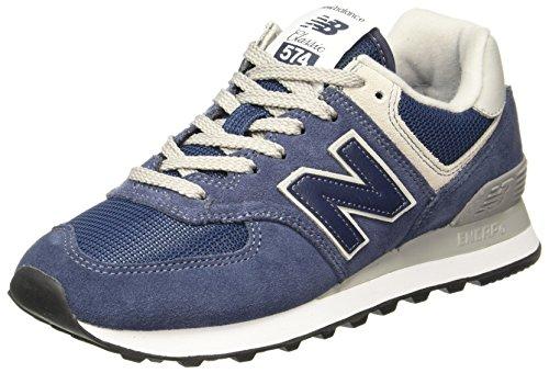New Flat Womens - New Balance Women's 574 Core Sneaker, Navy, 10 B US