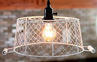 Ivory Chicken Wire Basket Swag Lamp 12 Quot H With Handles