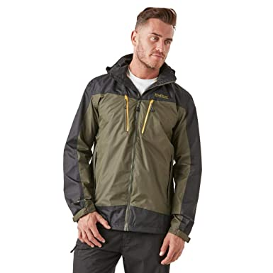 Regatta Calderdale II Waterproof and Breathable Hooded Chaqueta, Hombre