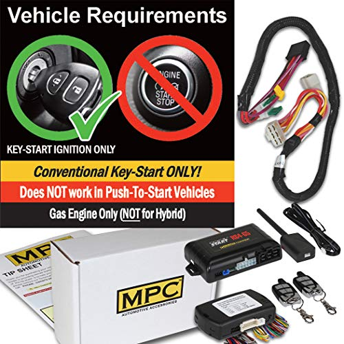 Complete Remote Start Kit with Keyless Entry for 2011-2013 Hyundai Sonata - Includes T-Harness and Bypass -