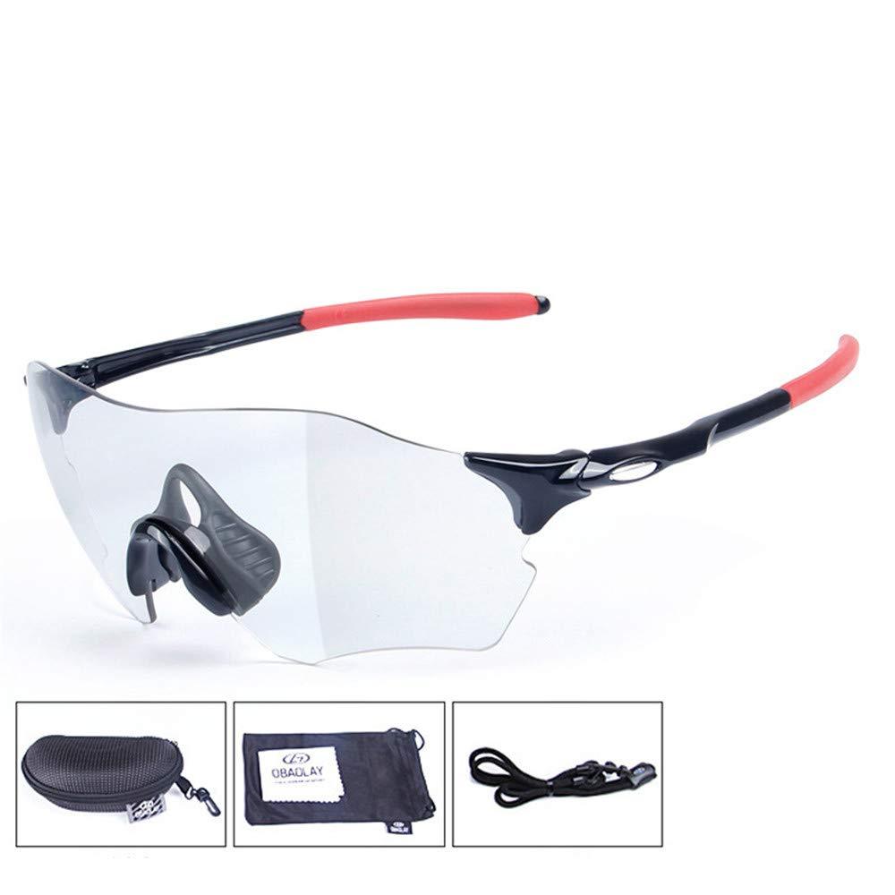 YFFS Color Sunglasses Color Polarized Sunglasses Men Color Cycling Glasses Sports Sunglasses Transparent Colorless