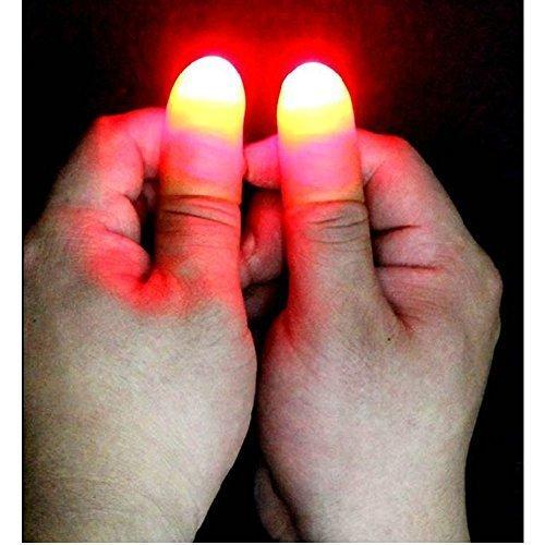 Free D ' lite enables magic LED finger lights thumb one shot art surprised real just like real magic party MI-FLGHIT
