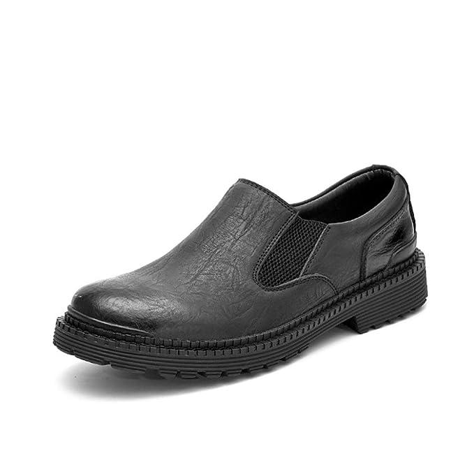 DAN Mocasines Para Hombres Zapatos Sin Cordones Zapatos De Cuero Casuales Para Caminar Zapatos Cómodos Antideslizantes Para Negocios: Amazon.es: Ropa y ...