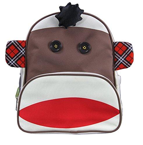 Cute Monkey Toddler Zoo Pet Backpack Pre-School Kindergarten Kid's Backpack Carrier (Back Zoo)