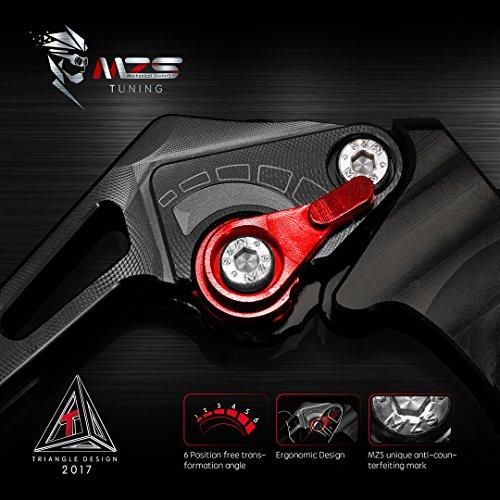 MZS Adjustment Brake Clutch Levers for Yamaha Banshee 350 YFZ350 2002-2008,Blaster 200 YFS200 2004-2006,Raptor 660 YFM660 2001-2004,Warrior 350 YFM350X 2002-2004,Wolverine 350 YFM350FX 2002-2005 Black by MZS (Image #4)'
