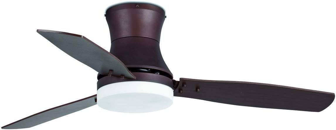 Faro Barcelona 33386 - TONSAY Ventilador de techo con luz marrón 3 palas diametro 1320mm con mando a distancia