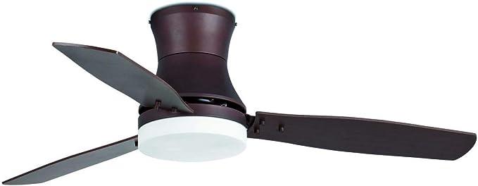 Faro Barcelona 33386 - TONSAY Ventilador de techo con luz marrón 3 ...