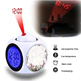 Best Canon Alarm Clocks - Projection Alarm Clock Wake Up Bedroom with Data Review